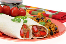 Burritos andbrown rice are great whole foods on the Perfect Formula Diet. Enjoy.