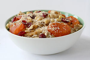 A food as simple and tasty as oatmeal with fruit, nuts, and dairy-free milk will set you strong on the road to health