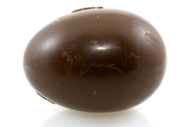Dark chocolate eggs are okay for a special treat