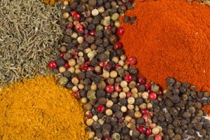 Chef Del finds selecting seasonings for his creations is largely inspirational