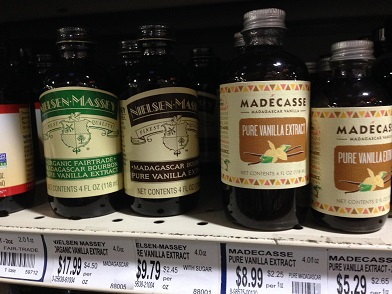 "Natural food stores and supermarkets carry many brands of vanilla extract, which is always made from vanilla seeds. Watch out for ""vanilla flavoring,"" which is not the same thing"