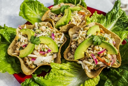 These healthy taco are perfect for an informal family dinner, a casual party, or to take to the office for lunch