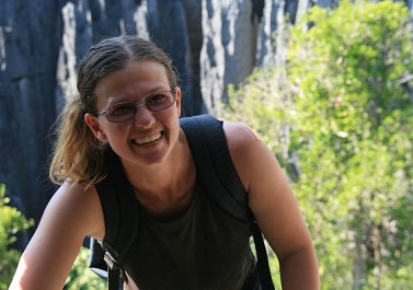 Wendy hiking in Madagascar