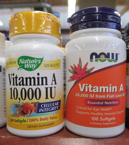Be alert - it's legal to sell vitamin A supplements in doses that are higher than the recommended daily upper limit