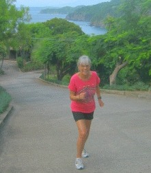 Dr. Ruth enjoys the tropical scenery of Costa Rica