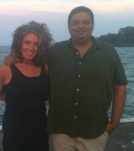 Chef Del and Dr. Pam Popper, his friend and business partner, enjoy some time off