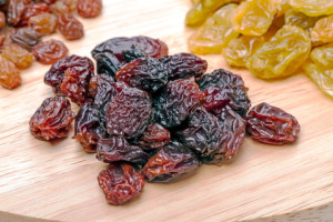 Even dried fruit, such as these yummy raisins, have benefits in losing weight