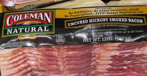 Uncured bacon is not the solution for nitrites and the toxic chemicals that form when these react with proteins