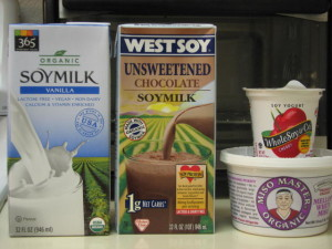 Here are some examples of whole soy foods that are conveniently available in stores. Avoid highly processes isolated soy protein, soy oil, and supplements with fragments of the whole soy bean (such as isoflavones in a pill)