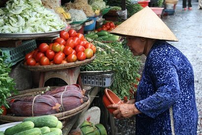 Another destination with no end of healthy vegan choices is the Mekong Delta vegetable market in Vietnam